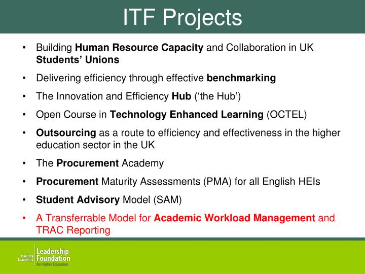 ITF Projects