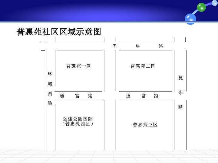 普惠苑社区区域示意图