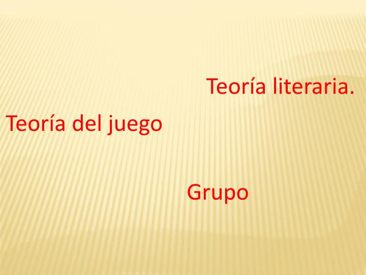 Teoría literaria.