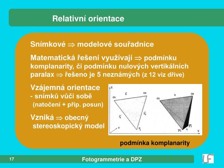 Relativní orientace