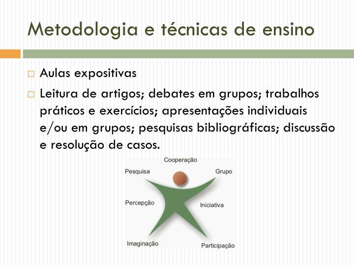 Metodologia e técnicas de ensino