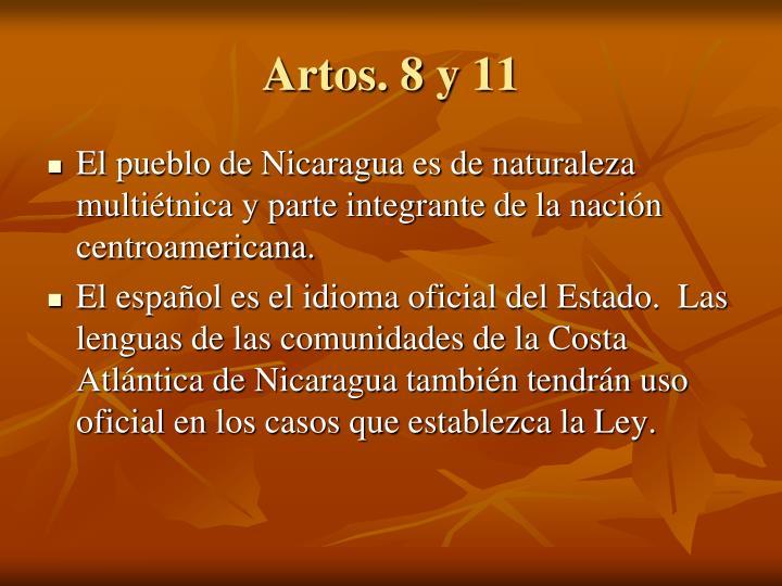 Artos. 8 y 11
