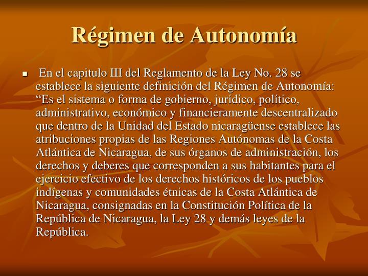 Régimen de Autonomía