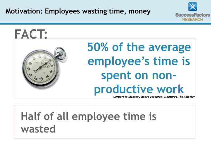 Half of all employee time is wasted