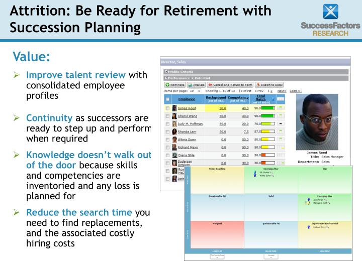 Attrition: Be Ready for Retirement with