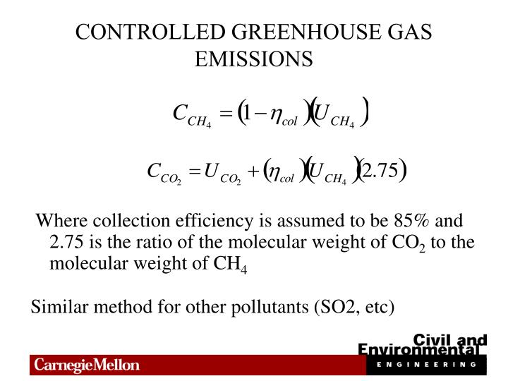 CONTROLLED GREENHOUSE GAS EMISSIONS