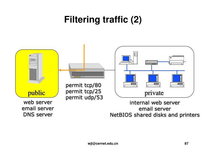 Filtering traffic (2)