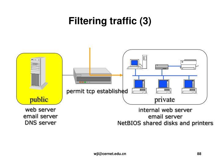 Filtering traffic (3)