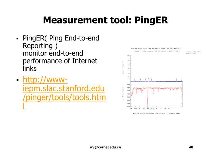Measurement tool: PingER
