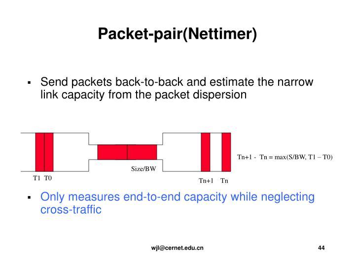 Packet-pair(Nettimer)