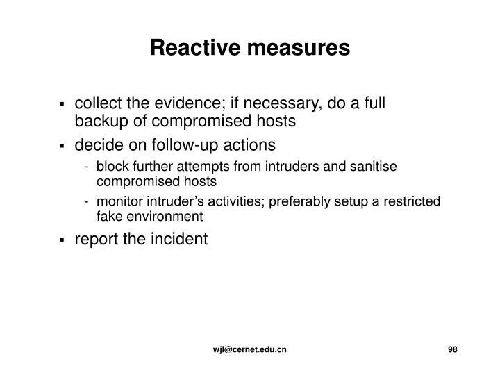 Reactive measures