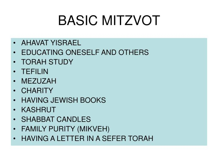 BASIC MITZVOT