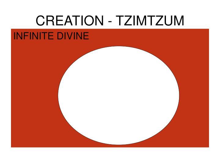 CREATION - TZIMTZUM
