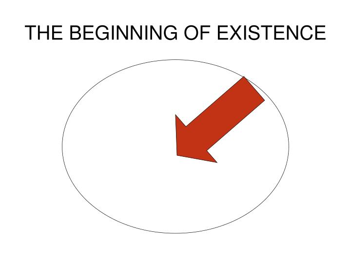 THE BEGINNING OF EXISTENCE