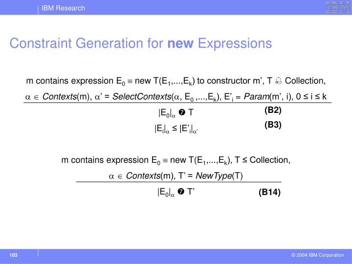 Constraint Generation for