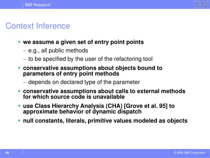Context Inference