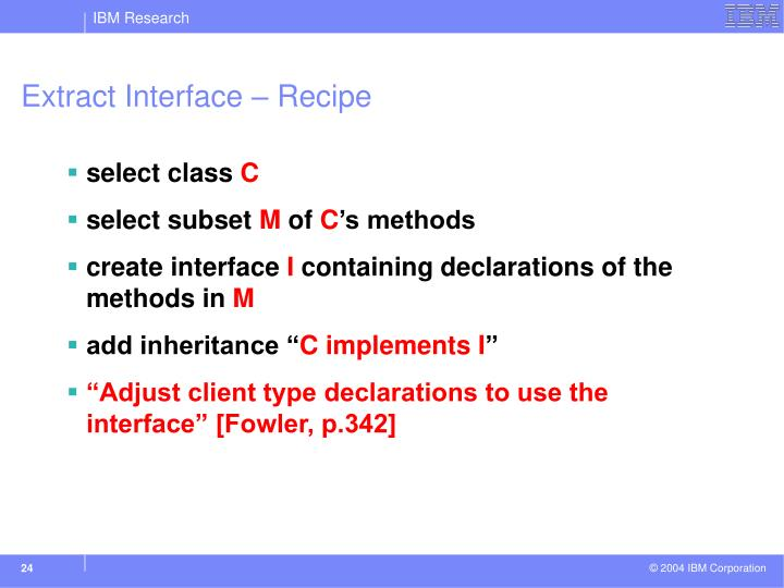 Extract Interface – Recipe