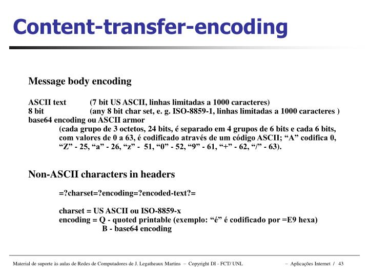 Content-transfer-encoding