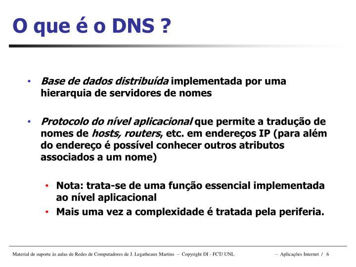 O que é o DNS ?