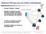 sistema p2p que usa um ndice centralizado