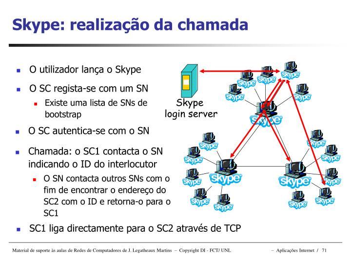 Skype: realizaç