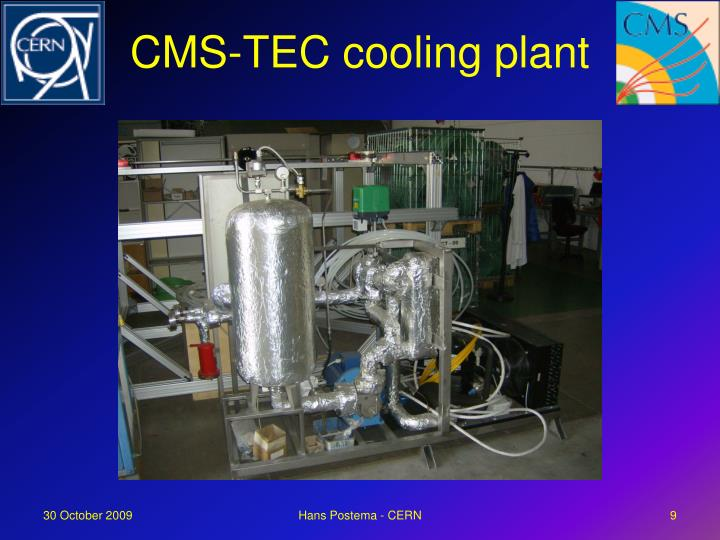 CMS-TEC cooling plant
