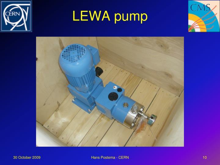 LEWA pump