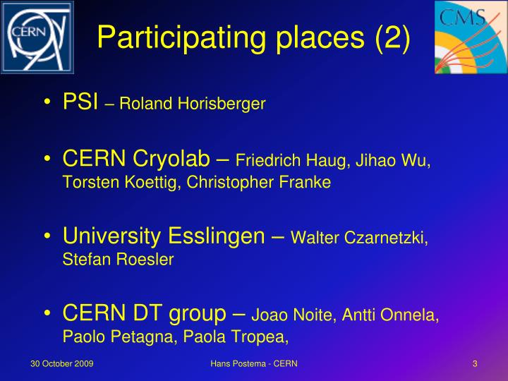 Participating places (2)