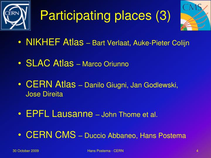 Participating places (3)