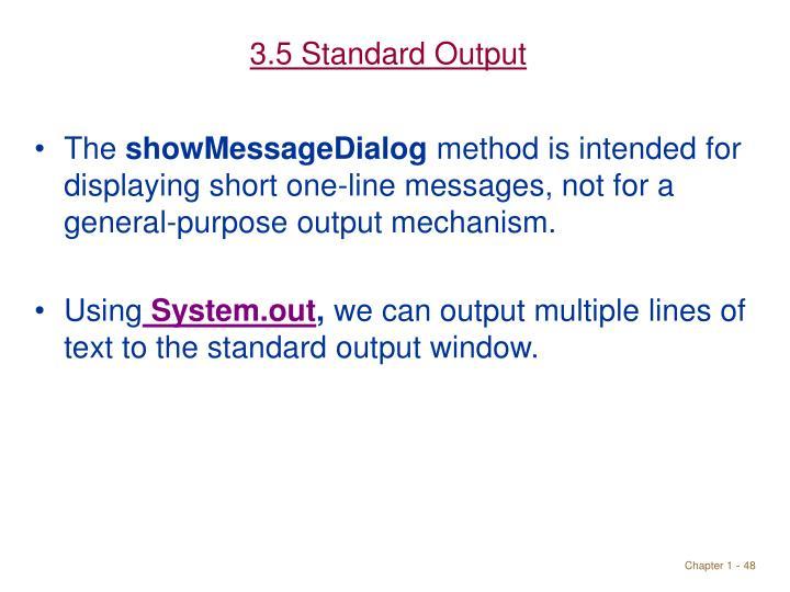 3.5 Standard Output