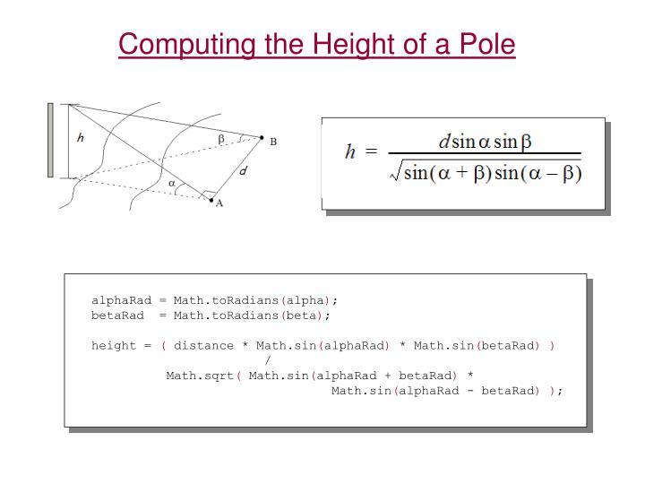 alphaRad = Math.toRadians