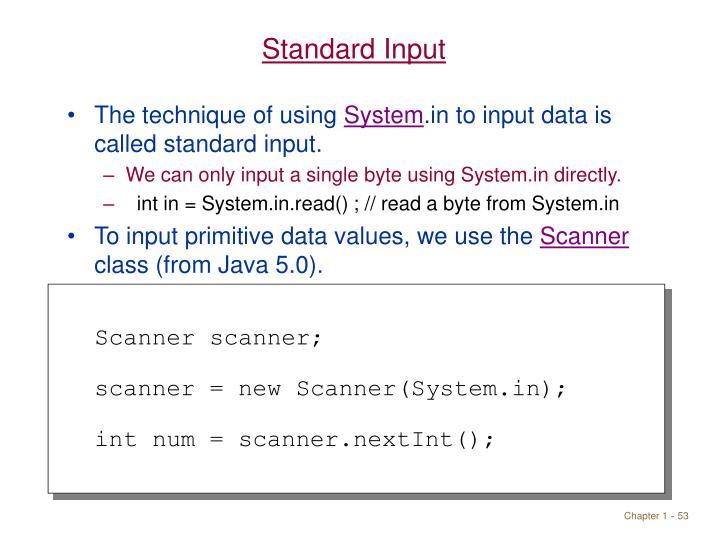 Standard Input
