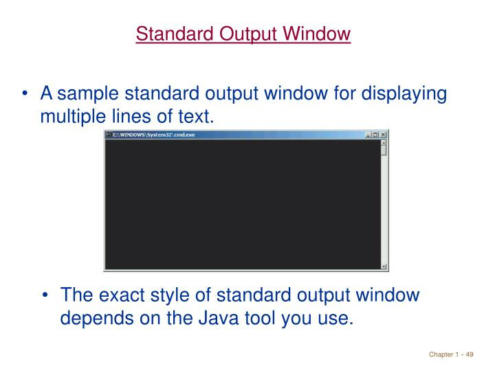 Standard Output Window