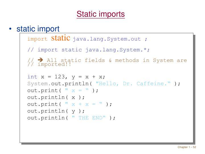 Static imports
