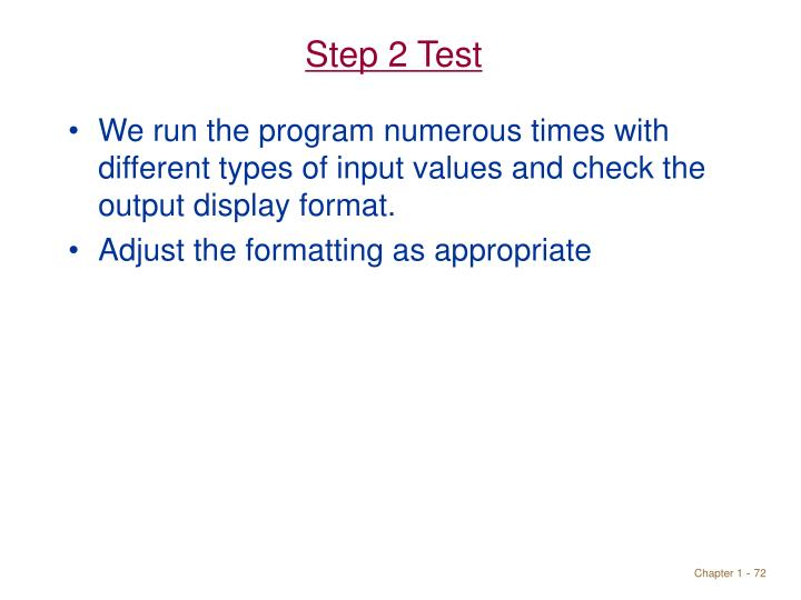 Step 2 Test