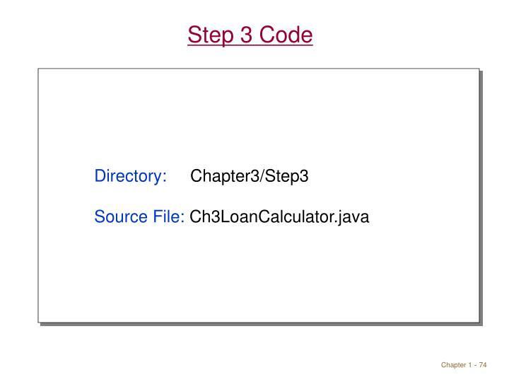 Step 3 Code