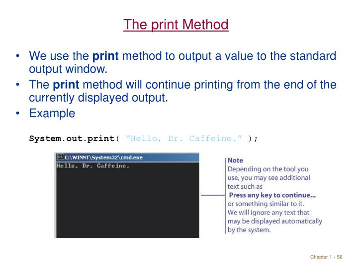 The print Method