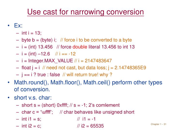 Use cast for narrowing conversion