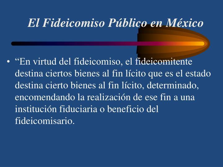 El Fideicomiso Público en México