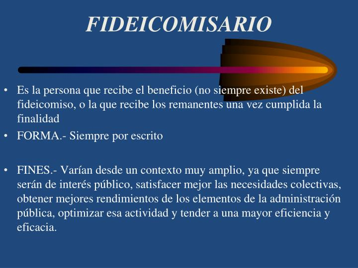 FIDEICOMISARIO
