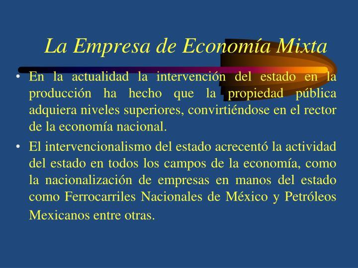 La Empresa de Economía Mixta