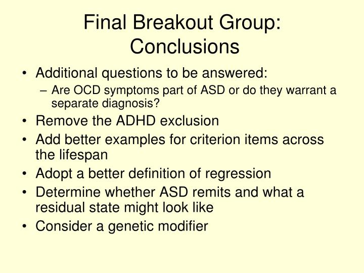 Final Breakout Group: