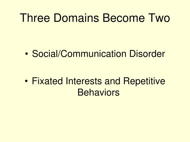 Three Domains Become Two