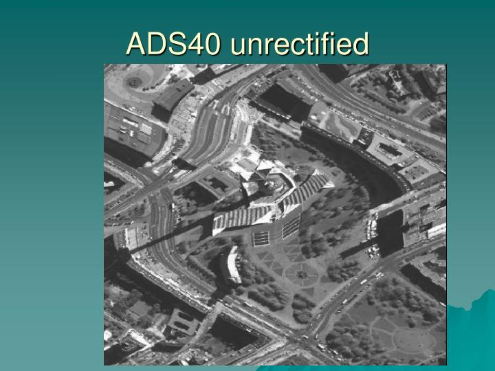 ADS40 unrectified