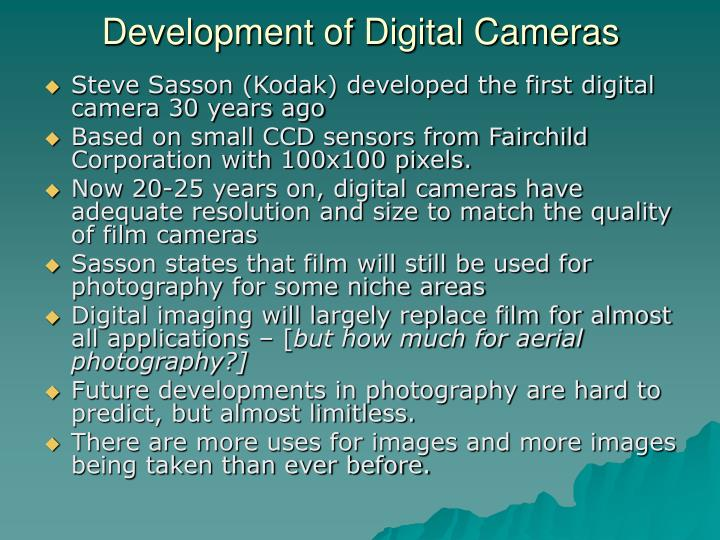 Development of Digital Cameras