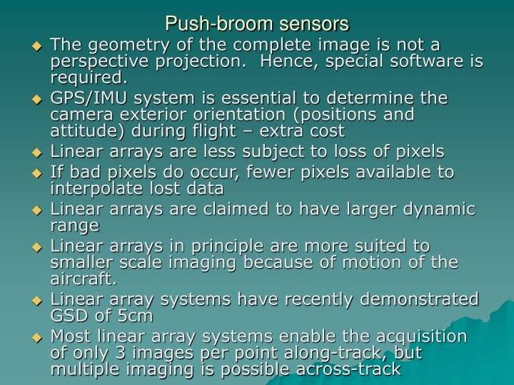 Push-broom sensors