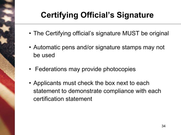Certifying Official's Signature