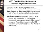 cfc certification statement 1 local or adjacent presence1