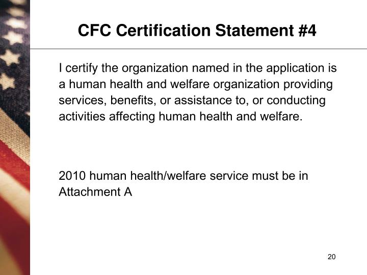 CFC Certification Statement #4