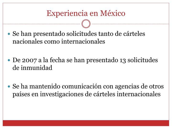 Experiencia en México